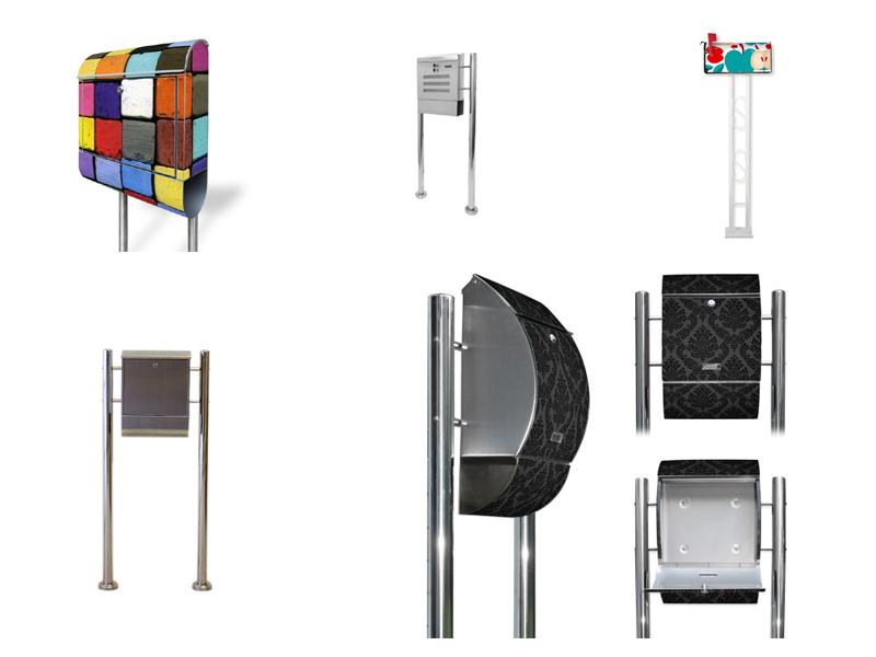 briefkasten mit standfu. Black Bedroom Furniture Sets. Home Design Ideas